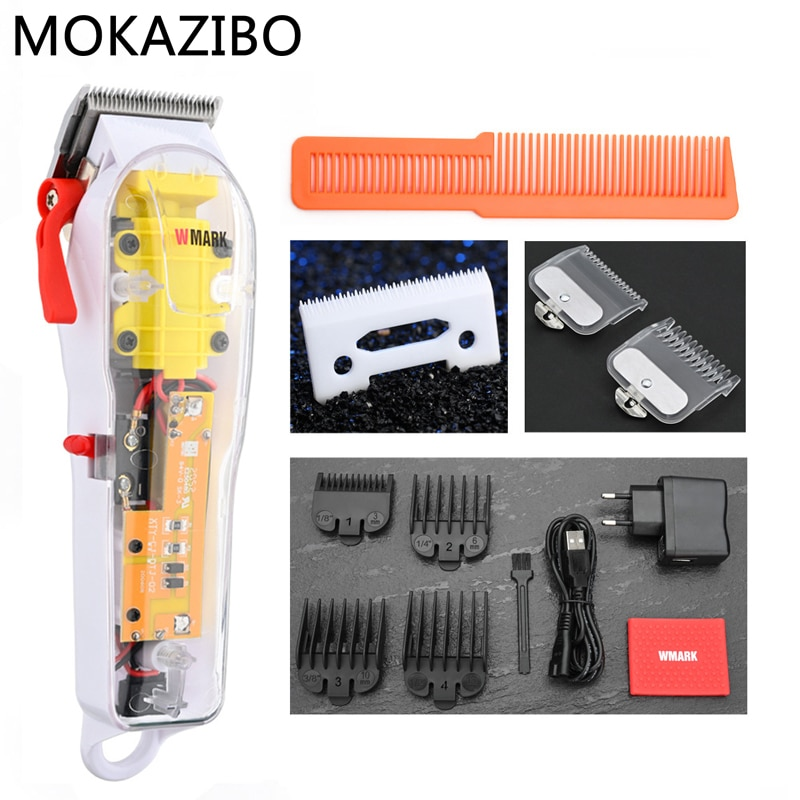 2020 New Model NG-108 Rechargeable Hair Cutting Machine Hair Clippers Trimmer Transparent Cover White Or Red Base ZYNWY-165