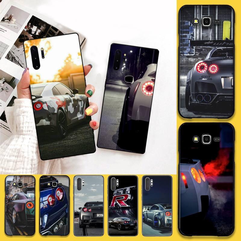 CUTEWANAN GTR Cool sports Car Black Soft Phone Case Cover For Samsung Note 7 8 9 10 Lite Plus Galaxy