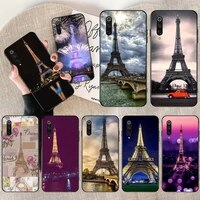 penghuwan paris france eiffel tower night phone case cover shell for redmi note 8 8a 7 6 6a 5 5a 4 4x 4a go pro plus prime