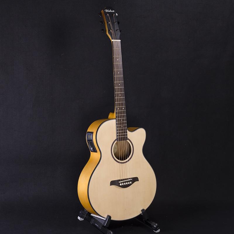 40-Polegada guitarra spruce nanyang madeira caixa elétrica guitarra DN-120 mid-range folk music cinco eq guitarra de madeira