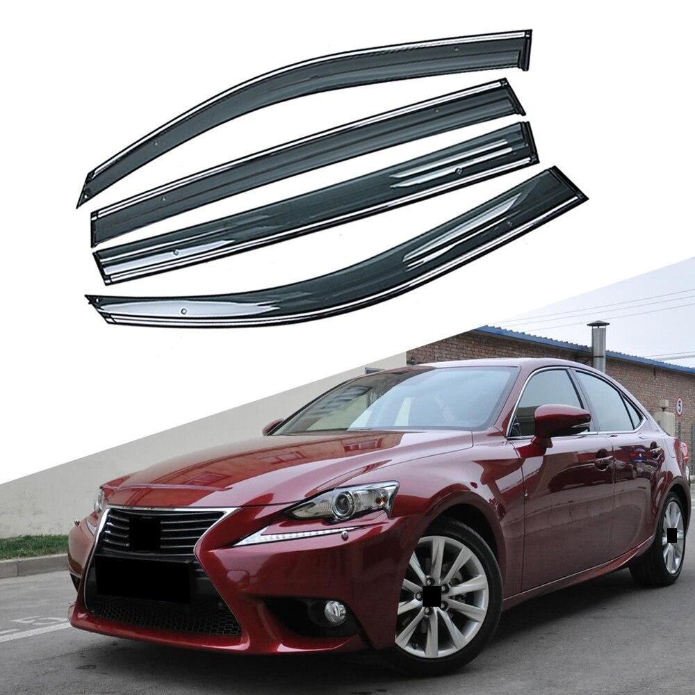 Dla LEXUS IS250 2005-2013 okno samochodu słońce osłona przeciwdeszczowa Visor tarcza schronienie obudowa ochronna wykończenia naklejka ramka akcesoria zewnętrzne