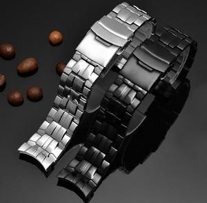 Watch accessories solid steel watch men for Casio EF-550D stainless steel metal bracelet 22mm