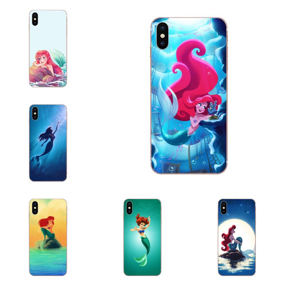 Soft Cases Cover For Samsung Galaxy A71 A51 A01 Galaxy S20 Plus S20 Ultra S11 S11E S10 Plus Little Mermaid Hybrid