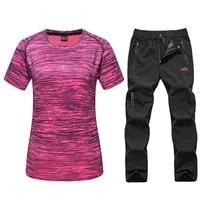 quick dry tshirt womens summer breathable running t shirts and hiking pants gym fitness sport tshirt training jogging shirts