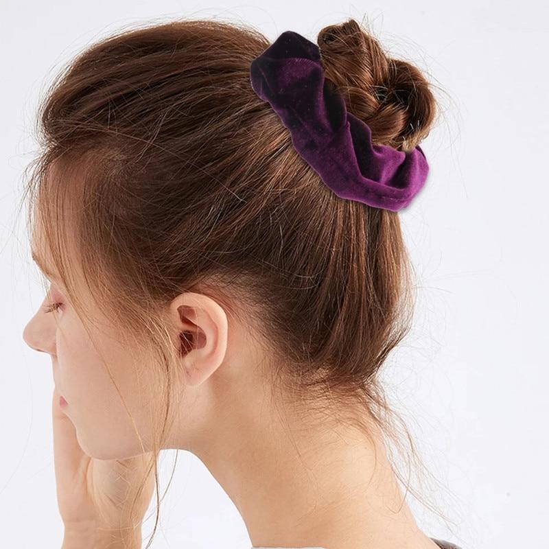 Baršunasta traka za kosu za žene i djevojke, elastične gumice za - Pribor za odjeću - Foto 4