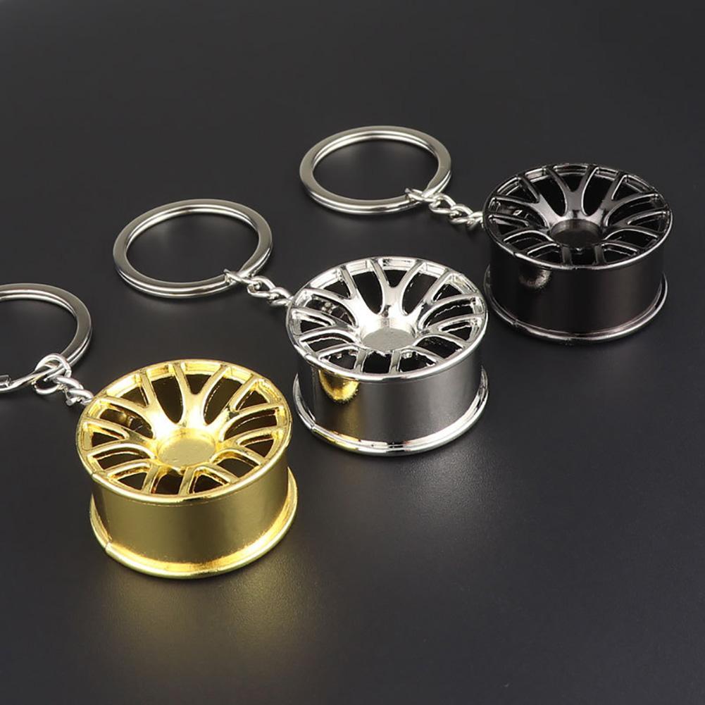 Fast And Furious 8 Key Chains High Quality Metal 3D Car Hub Keychain Car Wheel Rim Metal Pendant Keychain