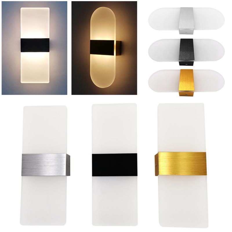 LED Wall Lamp Aluminum Simple Bedroom Bedside Living Room Study Hallway Light 6W Home Decoration Lamp Warm Light