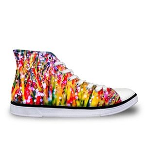 HaoYun Student Canvas Shoes Women 3D Colorful Design Women's High Top Vulcanize Shoes Flats Female Mujer Spring & Autumn Shoes
