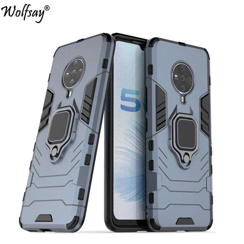 Para Vivo S6 5G caso Vivo S6 Z6 Y19 Y17 Y12 Y11 U3X X30 Pro V17Neo armadura de succión magnética soporte de la cubierta de borde para Vivo S6 caso