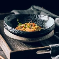 thick and beautiful plate deep nest ceramic plate creative plate japanese irregular ceramic plate loading plate restaurant plate