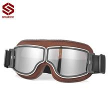 Очки для мотокросса, Ретро стиль, пилота, самокат, шлем, очки для улицы, стимпанк, мотоциклетные очки для мотоцикла, Байк