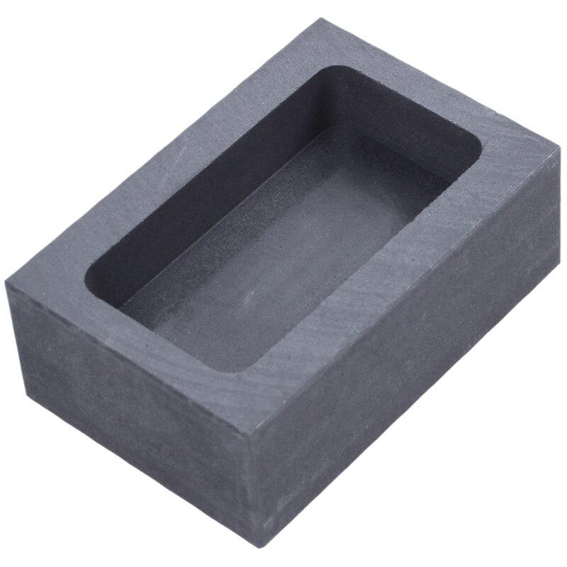 Molde de lingote crisol de grafito puro fundición de horno fundición oro platino plateado