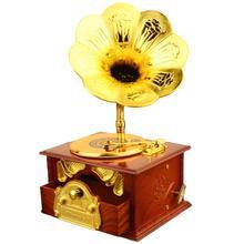 Miniature Furniture Model Toy Home Desk Decor Mini Simulation Retro Phonograph