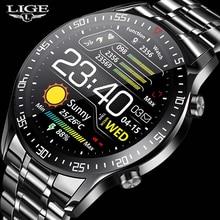 LIGE New 2021 Smart Watch Men Heart Rate Blood Pressure Information Reminder Sport Waterproof Smart