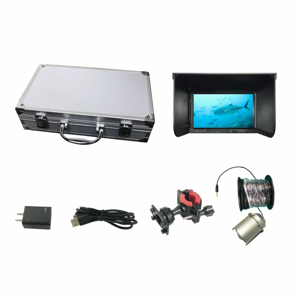 High-Definition Underwater Fish Finder 180° Fishing Camera Set 7 Inch Display 30 Meter Cable Holder With Storage Box Pesca Iscas