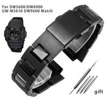 Per DW-5600 DW6900 DW9600 GW-M5610 cinturino in plastica nera fibbia in acciaio inossidabile cinturino da uomo accessori per orologi