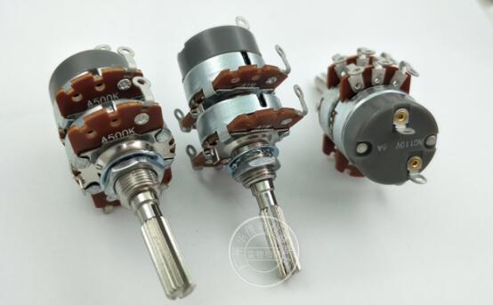 مقياس جهد مزدوج مع صنبور ومفتاح ، 8 أقدام وخيط 32 مللي متر ، قطر العمود 6 مللي متر ، AC110V 6A A500K A1M