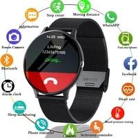 lige smart bluetooth call watch men women heart rate sports fitness tracker bracelet watch man for android ios xiaomi huawei