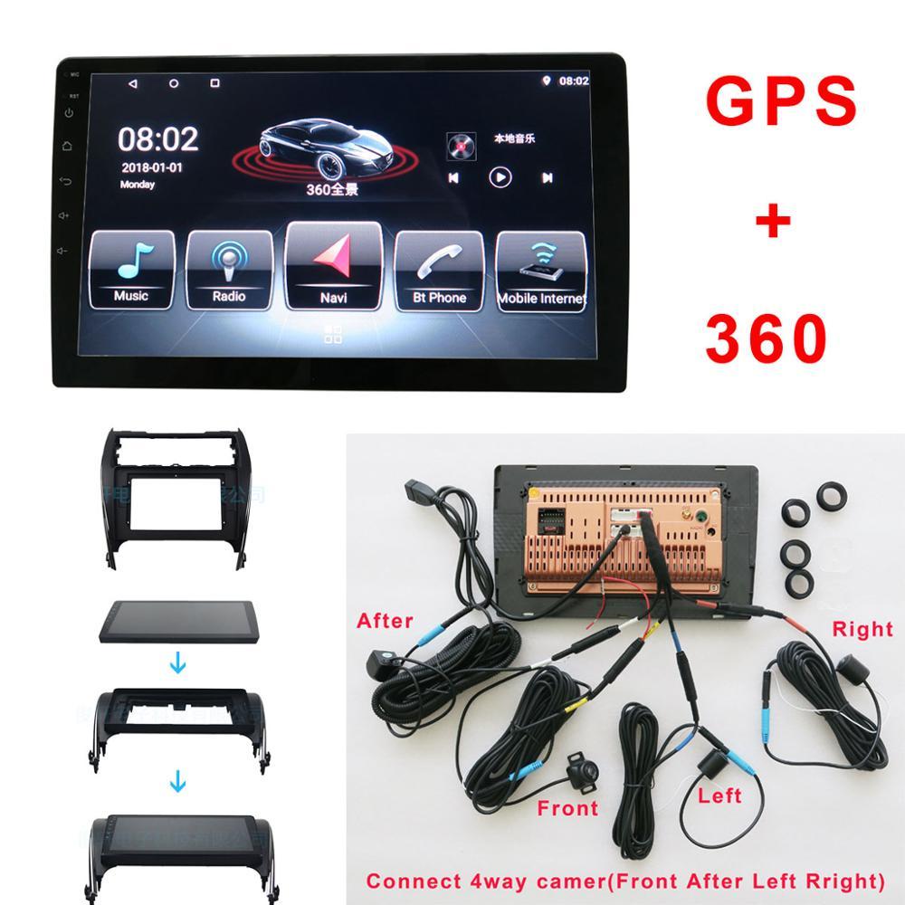 Android coche Multimedia y de 360 grados vista panorámica del sistema para TOYOTA Corolla Camry 2012 GPS BT Radio Wifi 4 Forma de cámara