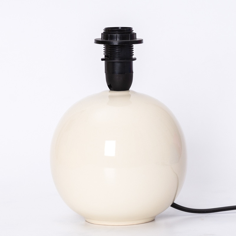 Retro Art Creative Color Round Small Table Lamp Base Ceramic Table Lamp Base