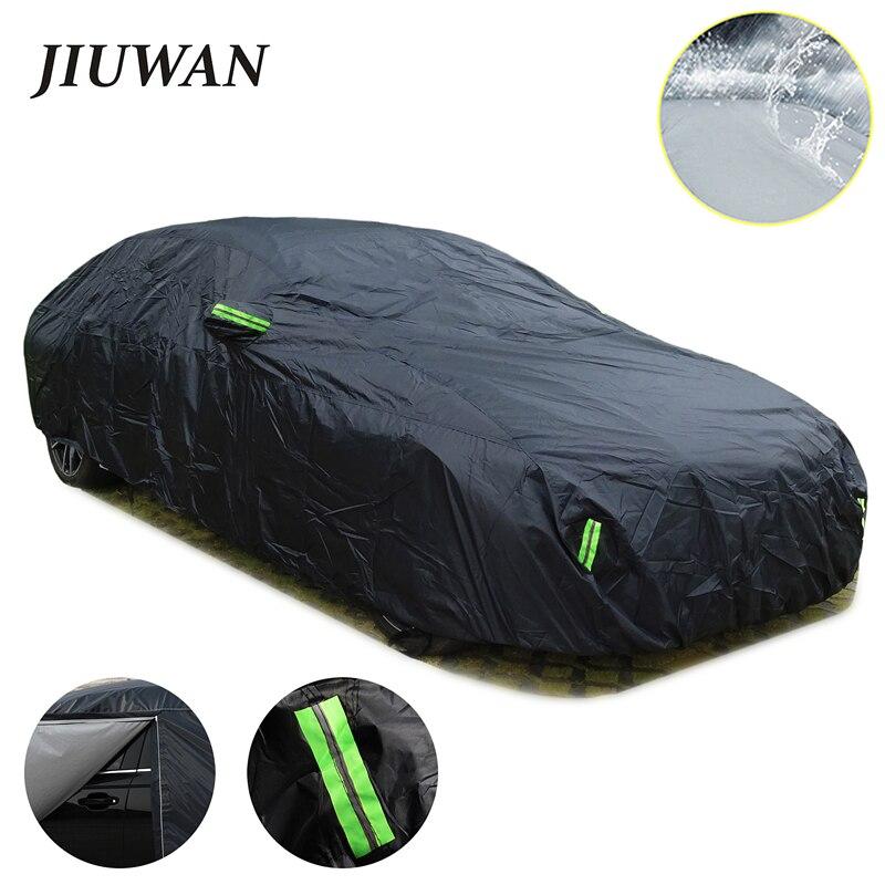 Universal SUV/Sedan Full Car Covers Outdoor Waterproof Sun Rain Snow Protection UV Car Zipper Design