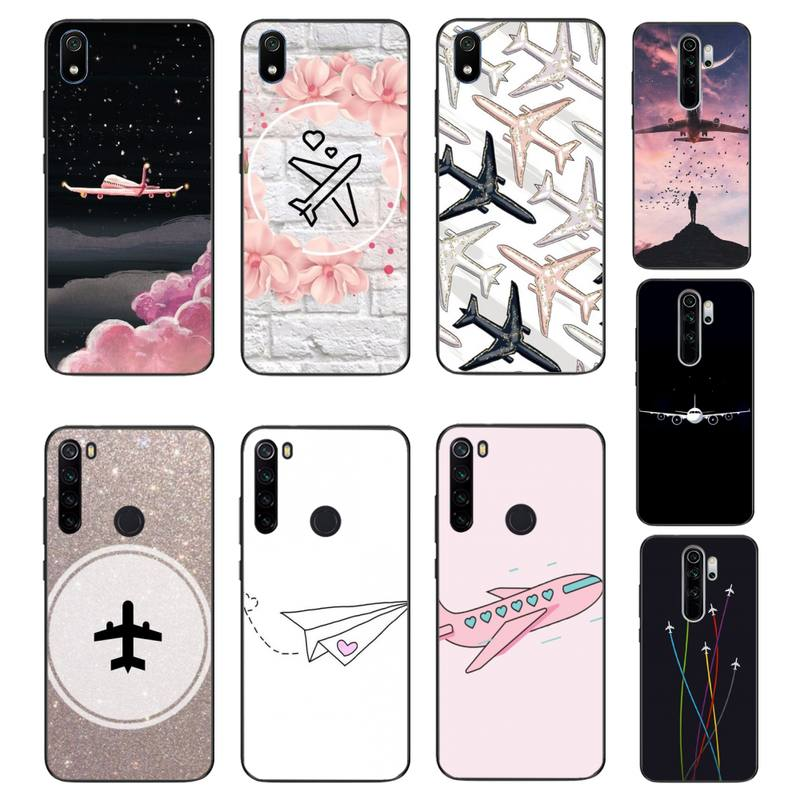 Yinuoda de aire de dibujos animados de avión de lujo funda de teléfono para Xiaomi Redmi 4X 5A 6A 6 7 8 9 5Plus Note5 5A 8Pro 8T