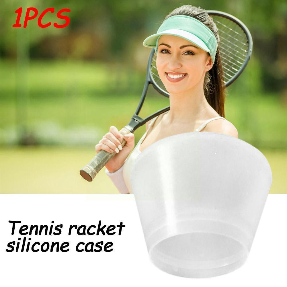 Shockproof Silicone Energy Sleeve Tennis Racket Cover Twinkle Grip Racquet Bumper Overgrip Accessories Sport Cap Ring End H W8S9