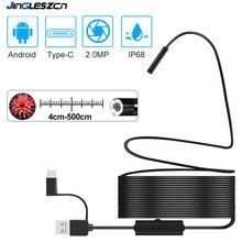 Nueva cámara de inspección USB Snake 2,0 MP IP68, endoscopio USB tipo C resistente al agua con 8 LED para Samsung Huawei Xiaomi PC
