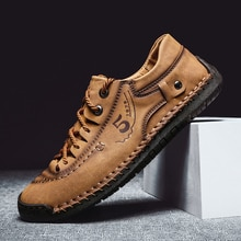 genuine Leather Men Shoes Luxury Brand Handmade  Casual Shoes Men Sneakers Italian Breathable Leisur