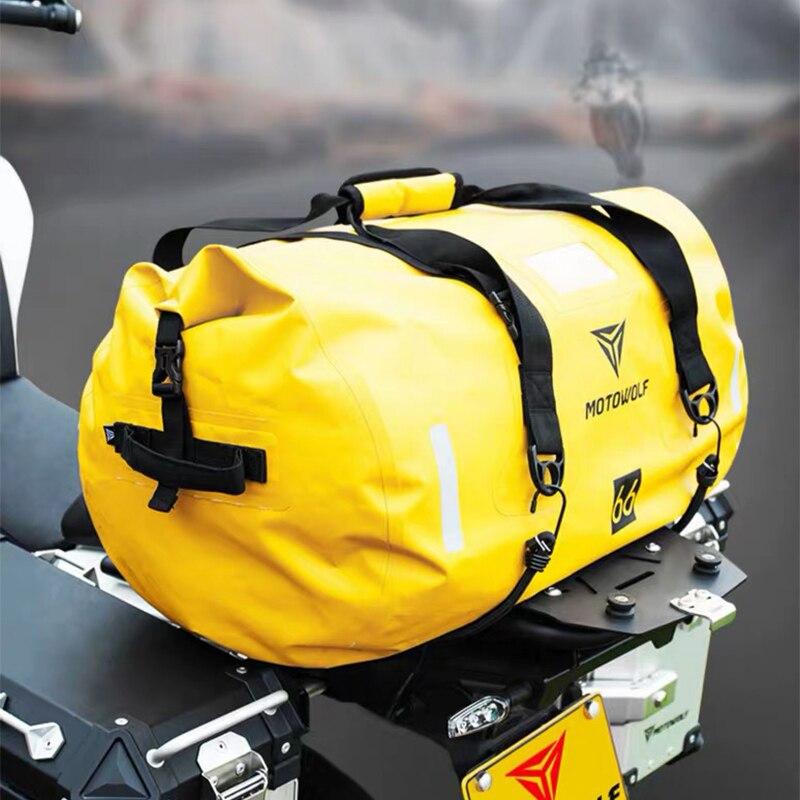K75, bolsos para asiento trasero de equipaje impermeable para motocicleta, bolsos para scooter para SUZUKI gsf 250 400 600 gsr 600 750 gsx s750 gsx600f gsxr 1000