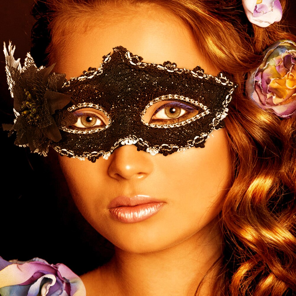 Hot Sexy Diamant Venetian Feder Blume Maske Karneval Maske Maskerade Masken Mardi gras Party Sexy Festival Party