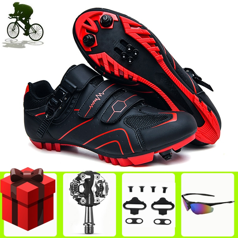 Sapatilha Ciclismo Mtb Cycling Shoes Men Breathable Outdoor Mountain Bike Women Racing Bicycle Ankle Boots Self-Locking Sneakers