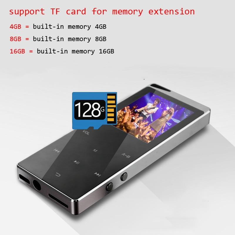 2021 جديد بلوتوث MP4 الموسيقى لاعب 4GB 8GB 16GB اللمس مفتاح SD بطاقة إدراج FM راديو متعددة اللغة الفاخرة المعادن ايفي لاعب