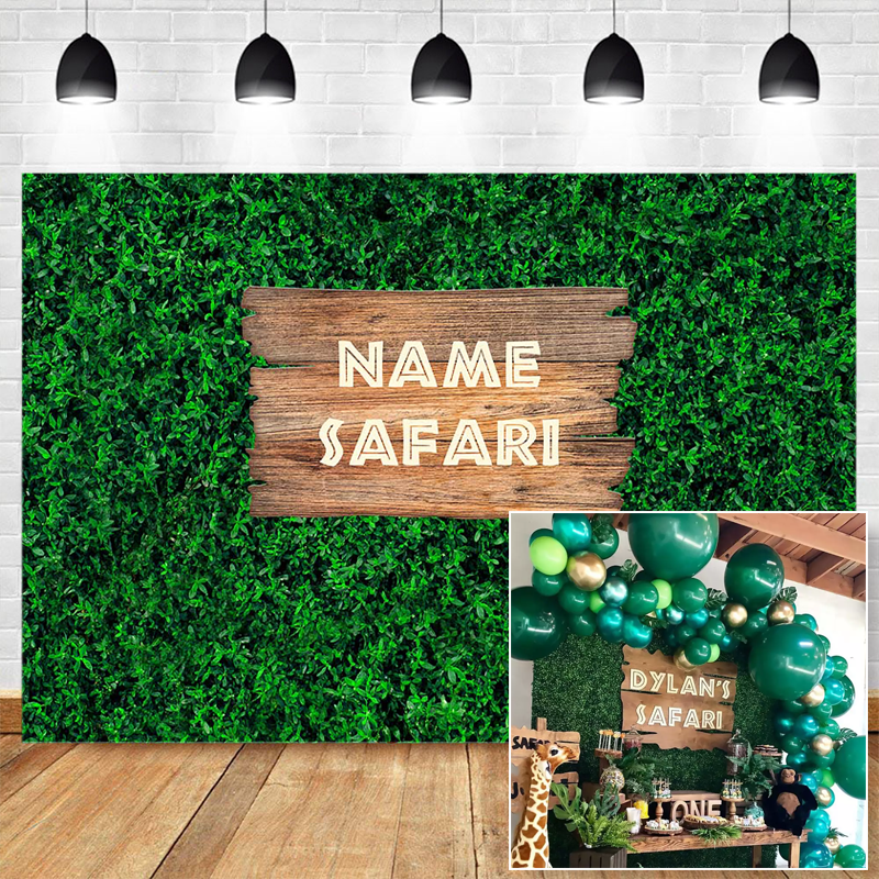 Wild One Backdrop for Safari Baby Shower Birthday Party Photography Background Green Grass Wall Customize Poster Wallpaper