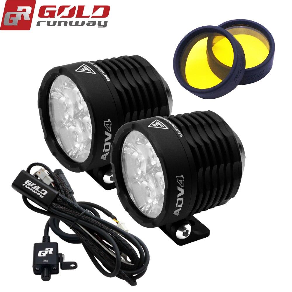GOLDRUNWAY 12V Led Motorcycle Headlight Bulbs Led 3600LMW Auxiliary Lamp Driving Car Fog Lamp Spot or flood Moto Ligh