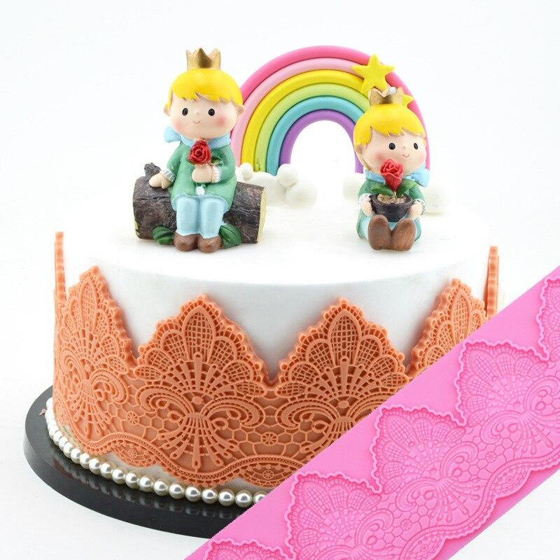 Minsunbak новая Толстая классическая форма для кружевного торта с тиснением, волнистый узор, силиконовая подставка для свадьбы, украшения для к...