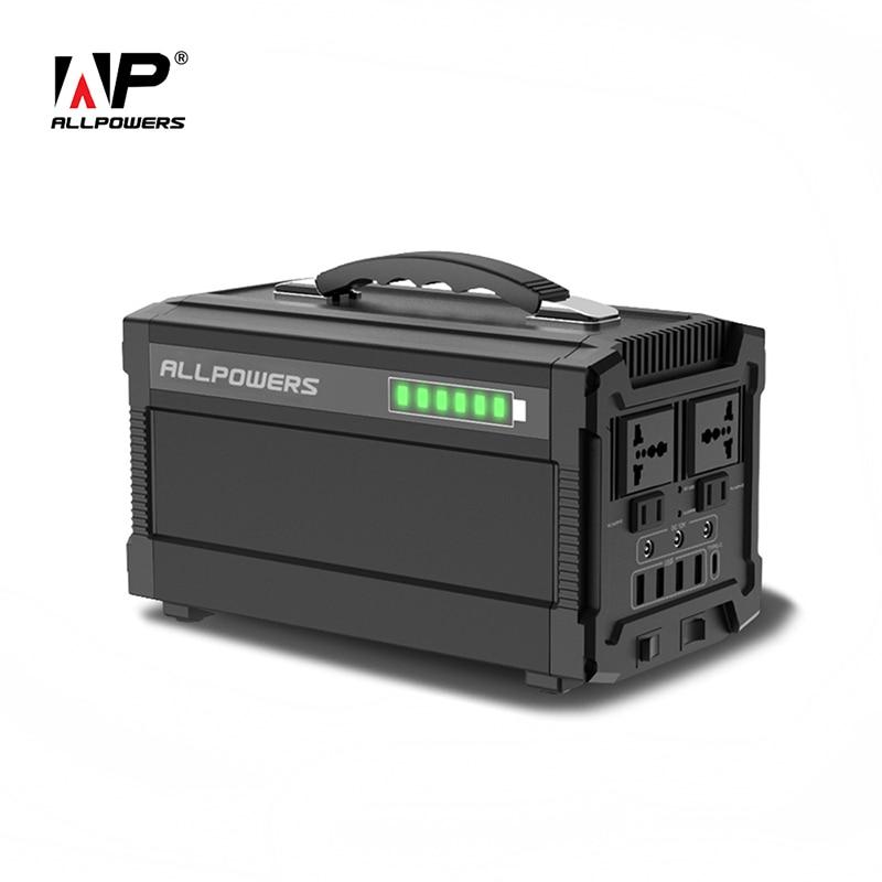ALLPOWERS 220V Power Bank 78000mAh Portable Generator Power Station AC DC USB Type-C Multiple Output Power Battery