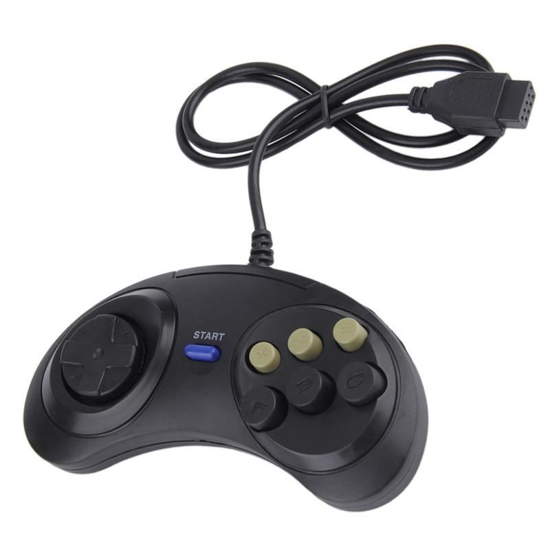 Mando de juego con cable clásico, 6 botones para SEGA MD2 PC...