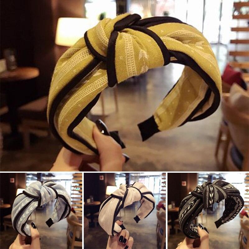 Simple Headband Girls Korean Bandanas Soft Turban Hair Bands Elastic Headwear Head Wrap Women Hair Accessories