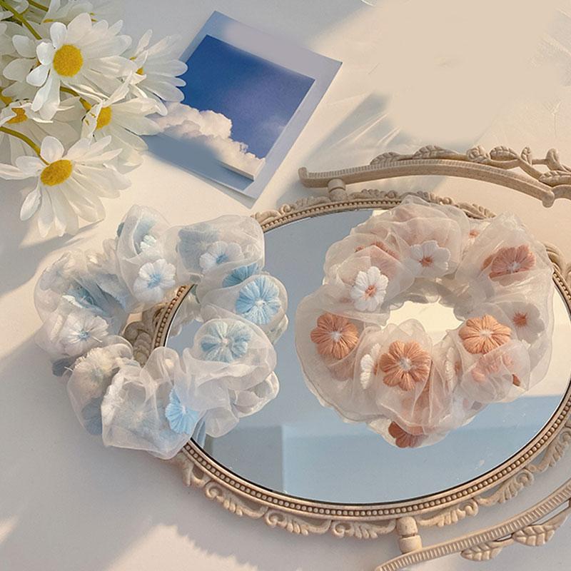 Slatki ženski mrežasti cvjetovi za vez, romantično ružičasto i - Pribor za odjeću - Foto 4
