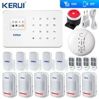 original kerui g18 wireless gsm sms home security alarm system iso android app security alarm system wireless smoke detector