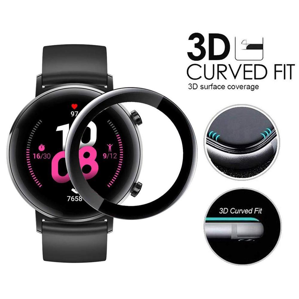 Huawei gt 2 vidrio suave para hauwei watch gt 2 42mm película protectora de pantalla completa transparente huawei watch gt accesorios 42mm película de fibra