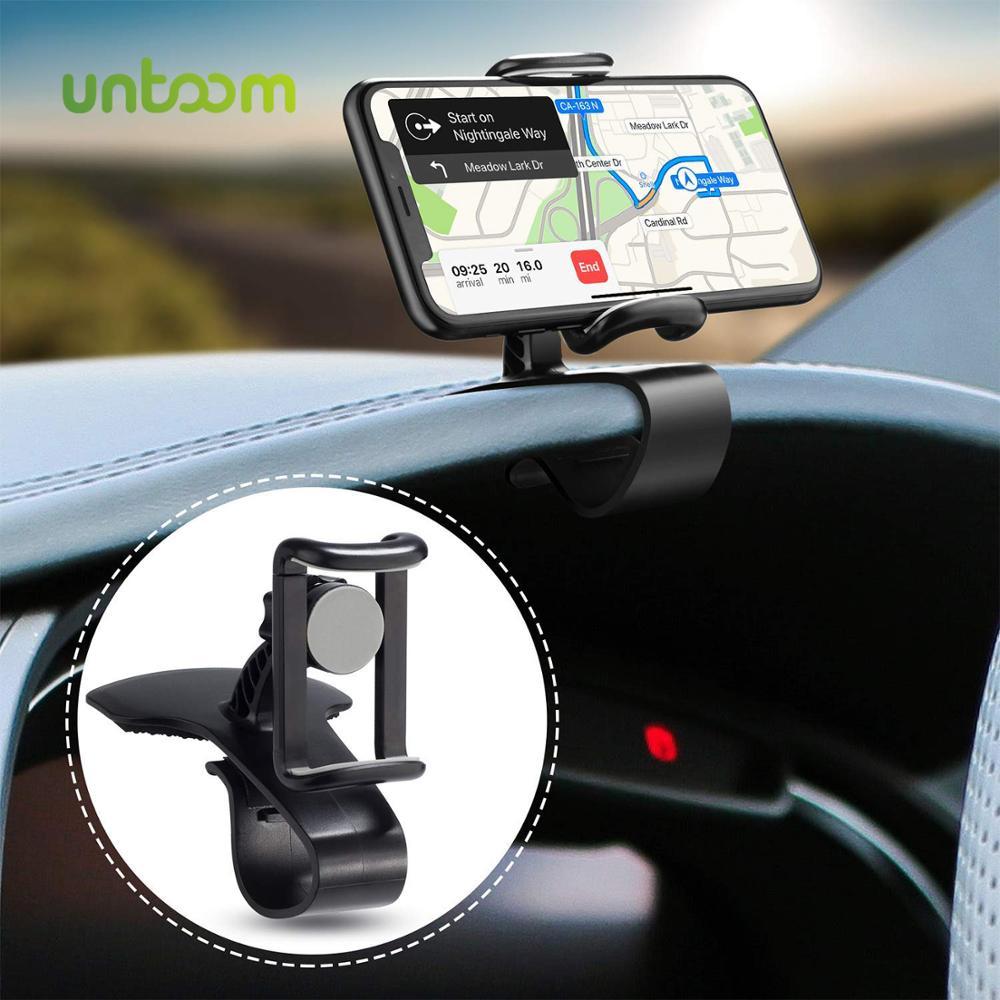 Atóm HUD soporte de teléfono para salpicadero de coche Universal soporte de montaje para teléfono móvil cuna en coche 360 grados de rotación de teléfono GPS Clip soporte