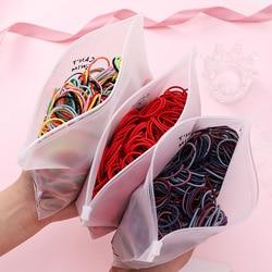 Elástico de borracha para cabelo, faixas de cabelo de 100, pçs/lote, 3cm, para rabo de cavalo, acessórios de cabelo para criança cabelo
