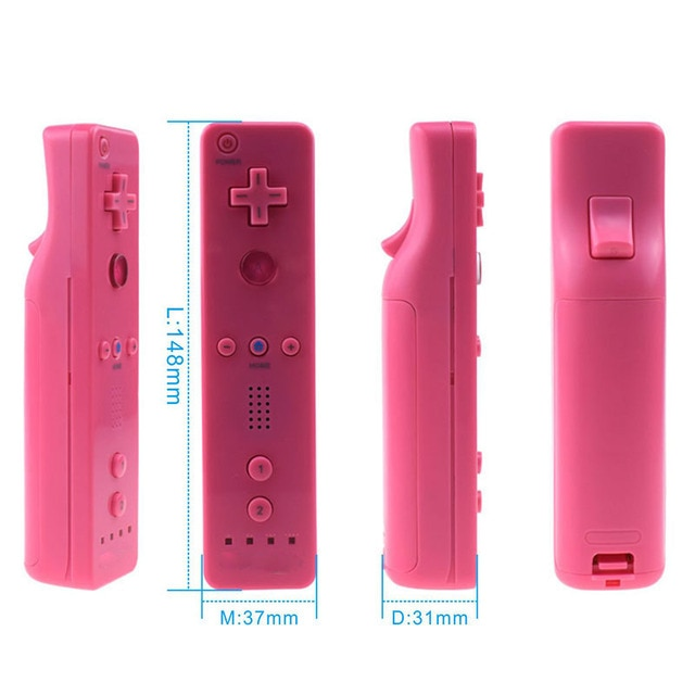 7 Colors 1pcs  Wireless Gamepad  For Nintend Wii Game Remote Controller  Joystick without Motion Plus 2