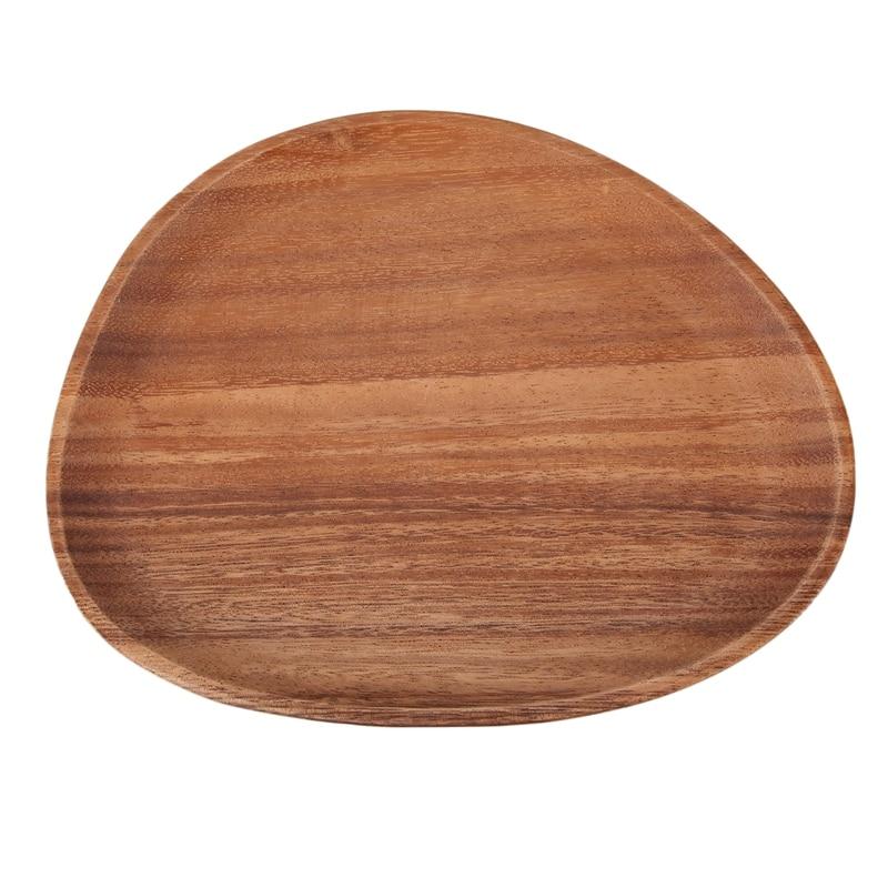 Lovesickick placa de panela irregular pratos de frutas pires bandeja de chá sobremesa placa de jantar utensílios de mesa, 26x21cm