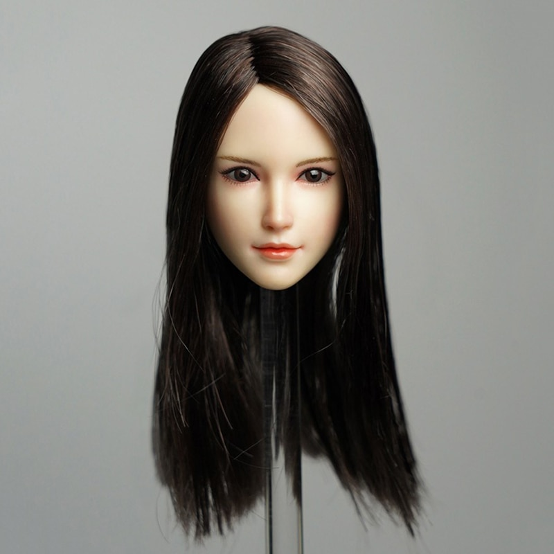 SDH015 1/6 Female Head Sculpt Long Hair Beauty Carving for PH 12 Body Model