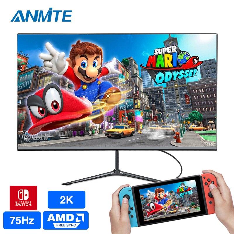 "Anmite 24 ""2K QHD 2560x1440 IPS 75Hz Monitor profesional Gaming Monitor pantalla LED USB tipo-C pantalla inteligente"