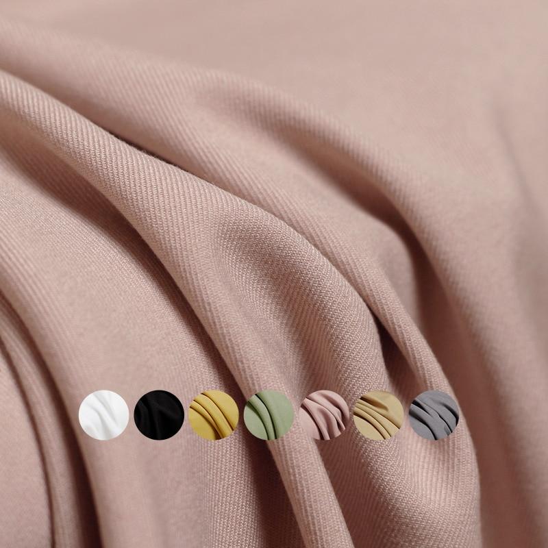 Branco waxberry pure color tr sarja worsted tecido primavera mulher vestido calças ternos jaqueta costura pano alfaiate têxtil freeshippin