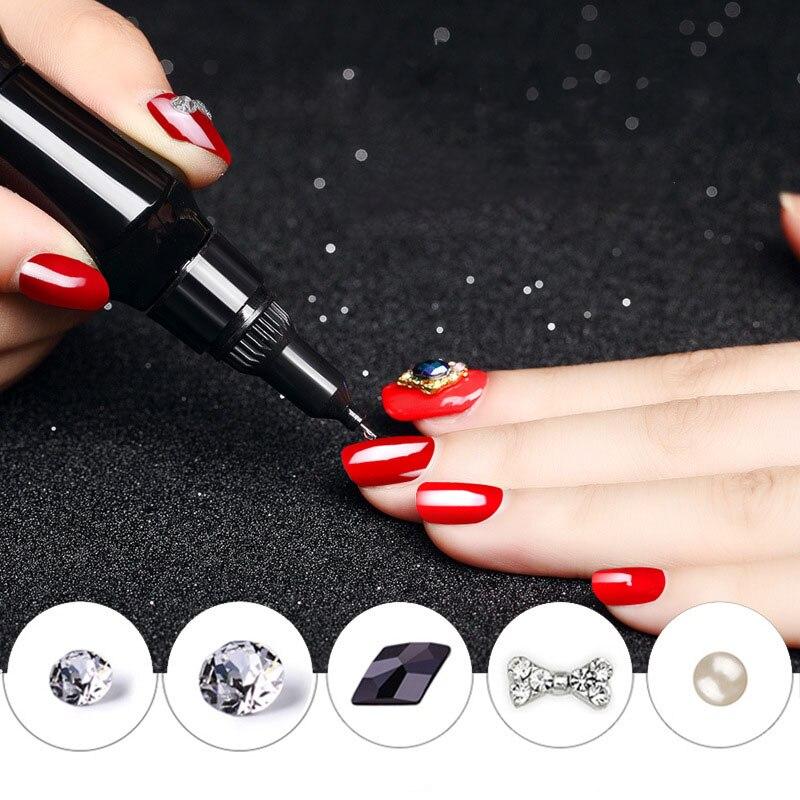 12 ml/unid pegamento de uñas UV manicura acrílica diamantes de imitación decoración de purpurina puntas de Arte de uñas Punta de Gel de uñas de arte cristal Gel